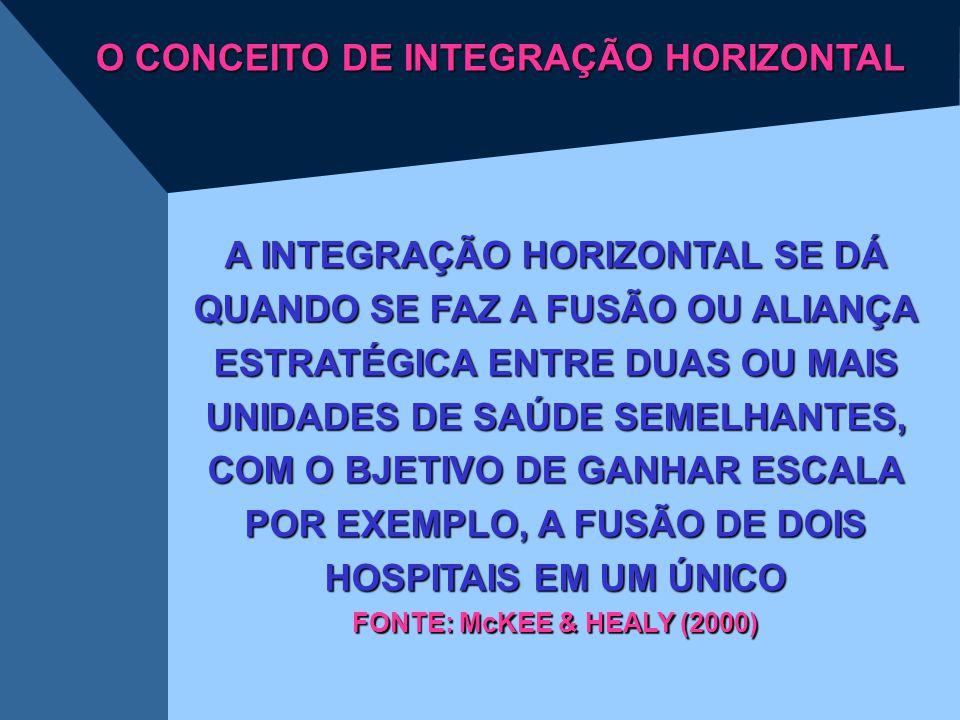 O CONCEITO DE INTEGRAÇÃO HORIZONTAL