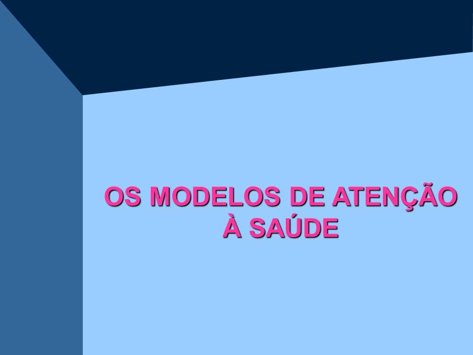 OS MODELOS DE ATENÇÃO À SAÚDE