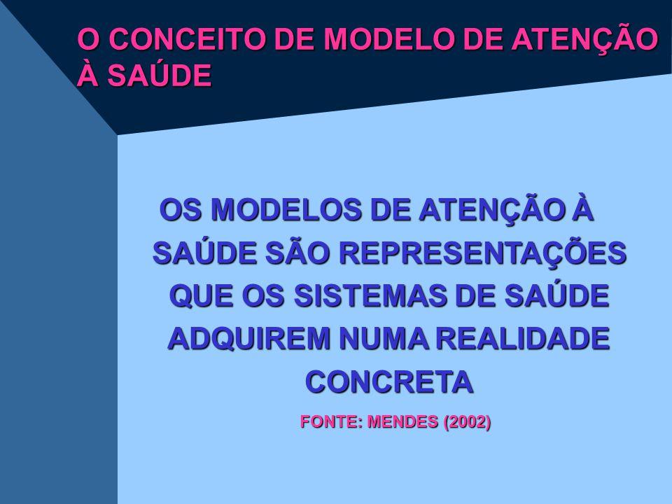 O CONCEITO DE MODELO DE ATENÇÃO À SAÚDE