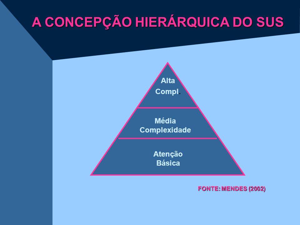 A CONCEPÇÃO HIERÁRQUICA DO SUS