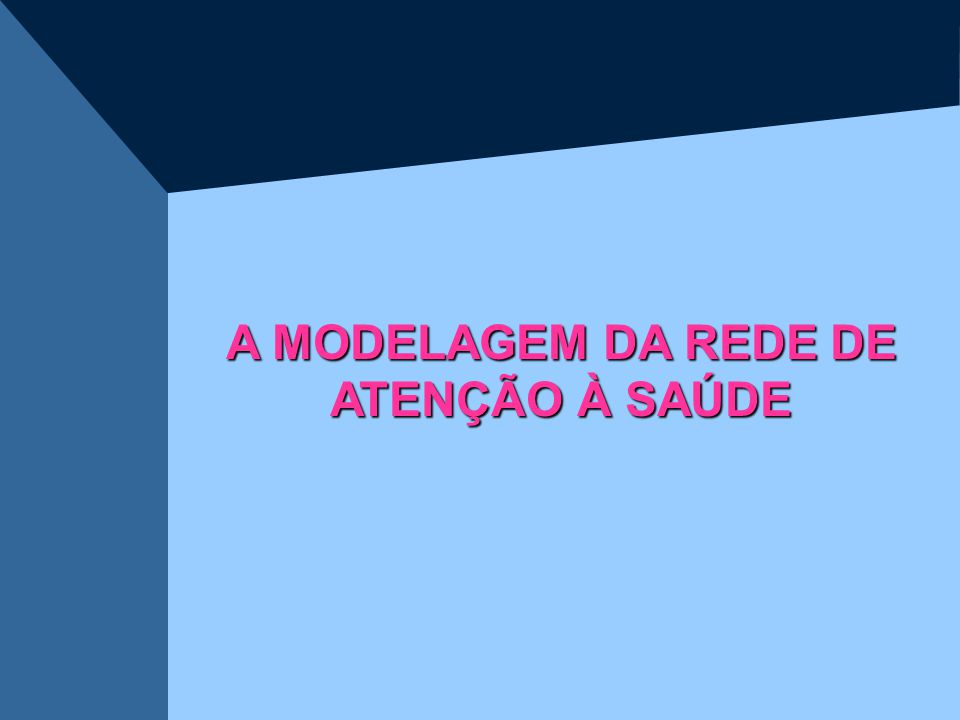 A MODELAGEM DA REDE DE ATENÇÃO À SAÚDE