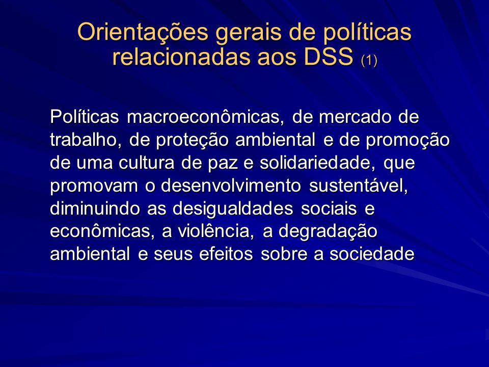 Orientações gerais de políticas relacionadas aos DSS (1)