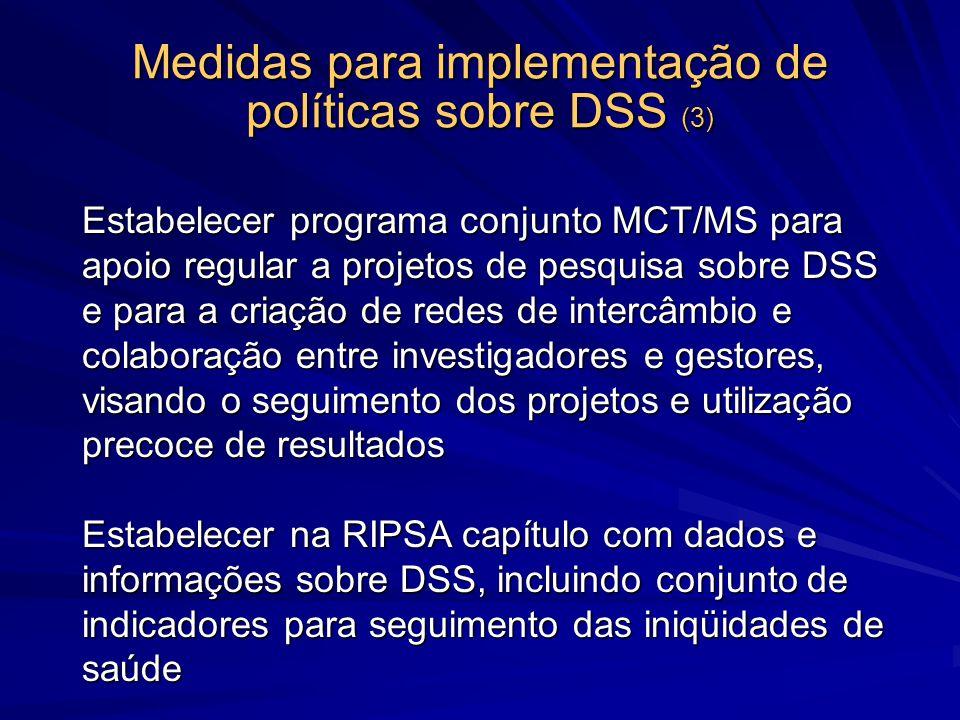 Medidas para implementação de políticas sobre DSS (3)