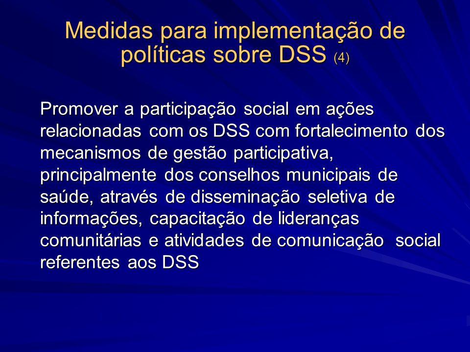 Medidas para implementação de políticas sobre DSS (4)