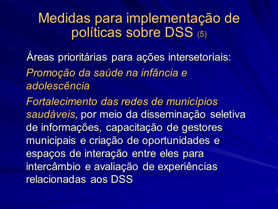 Medidas para implementação de políticas sobre DSS (5)
