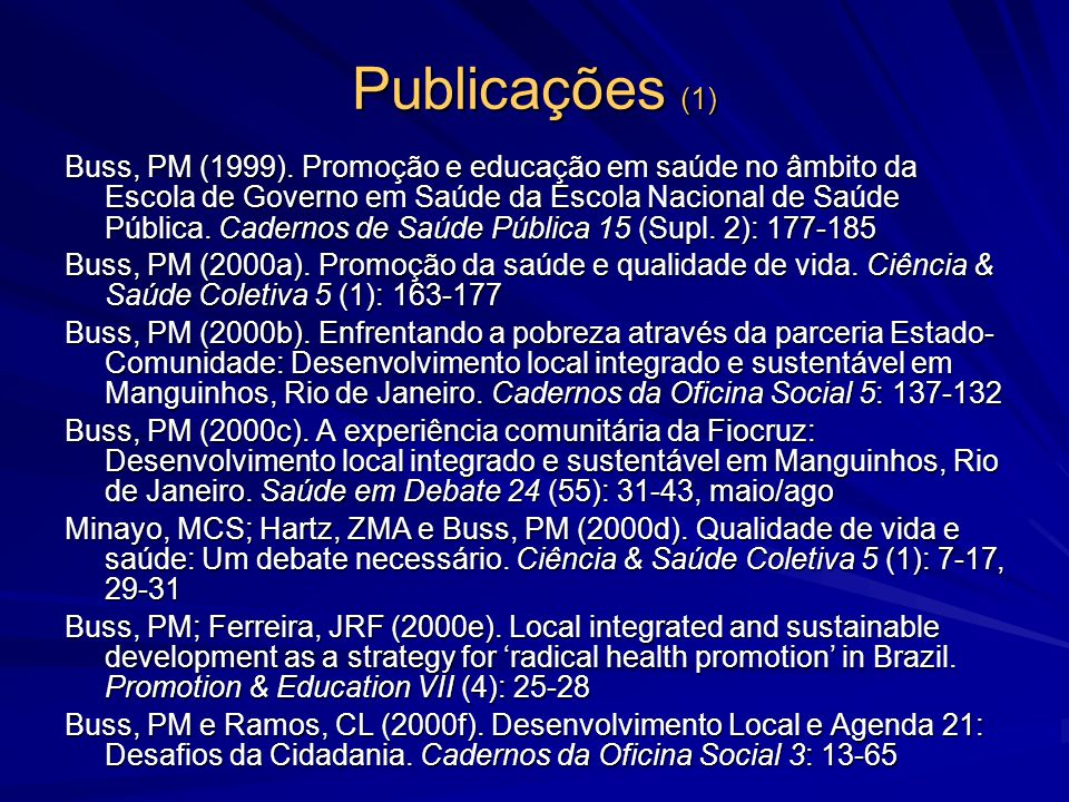 Publicações (1)