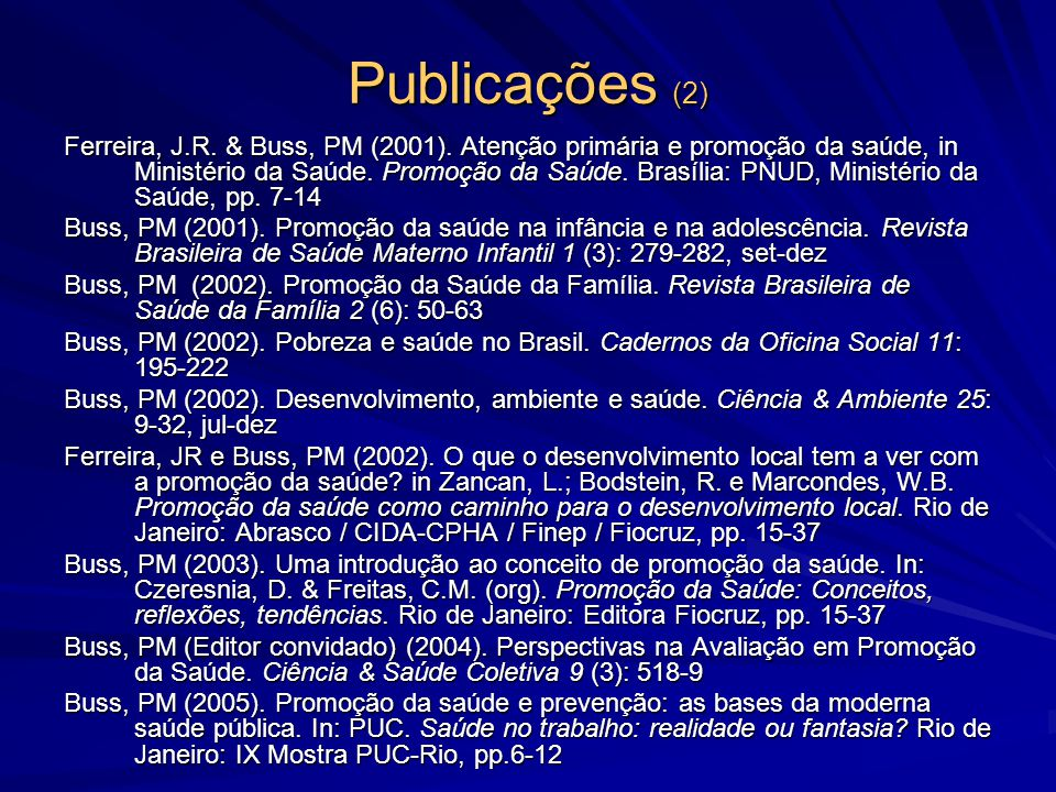Publicações (2)