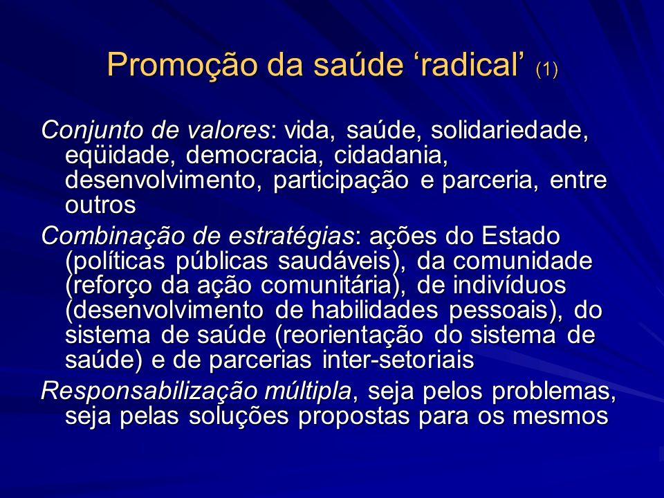 Promoção da saúde 'radical' (1)