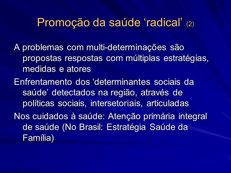 Promoção da saúde 'radical' (2)