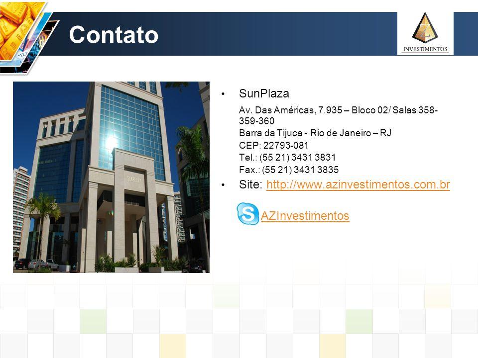 Contato SunPlaza Av. Das Américas, 7.935 – Bloco 02/ Salas 358-359-360