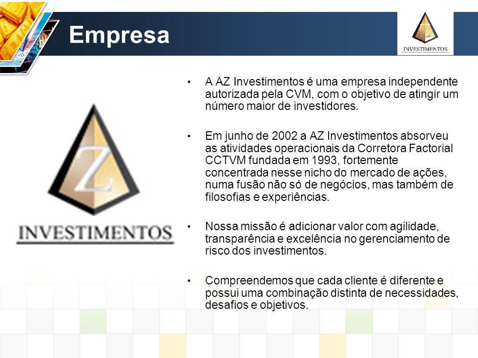 Empresa A AZ Investimentos é uma empresa independente autorizada pela CVM, com o objetivo de atingir um número maior de investidores.