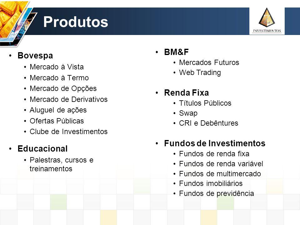 Produtos BM&F Bovespa Renda Fixa Fundos de Investimentos Educacional