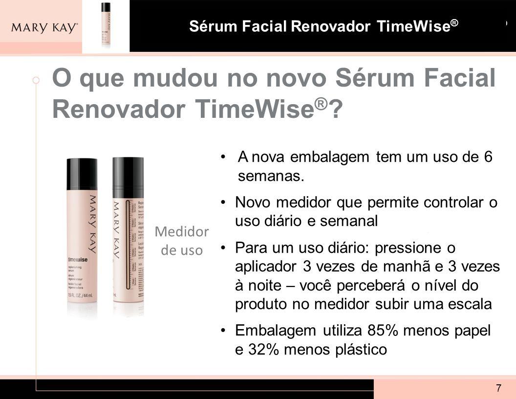 O que mudou no novo Sérum Facial Renovador TimeWise®