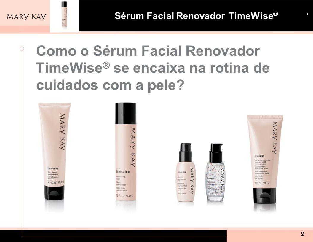 Como o Sérum Facial Renovador TimeWise® se encaixa na rotina de cuidados com a pele