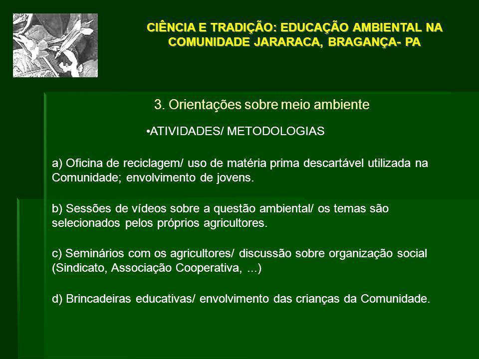 3. Orientações sobre meio ambiente