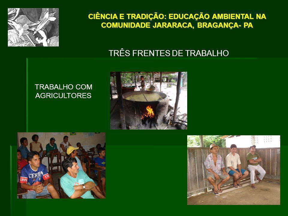 TRÊS FRENTES DE TRABALHO
