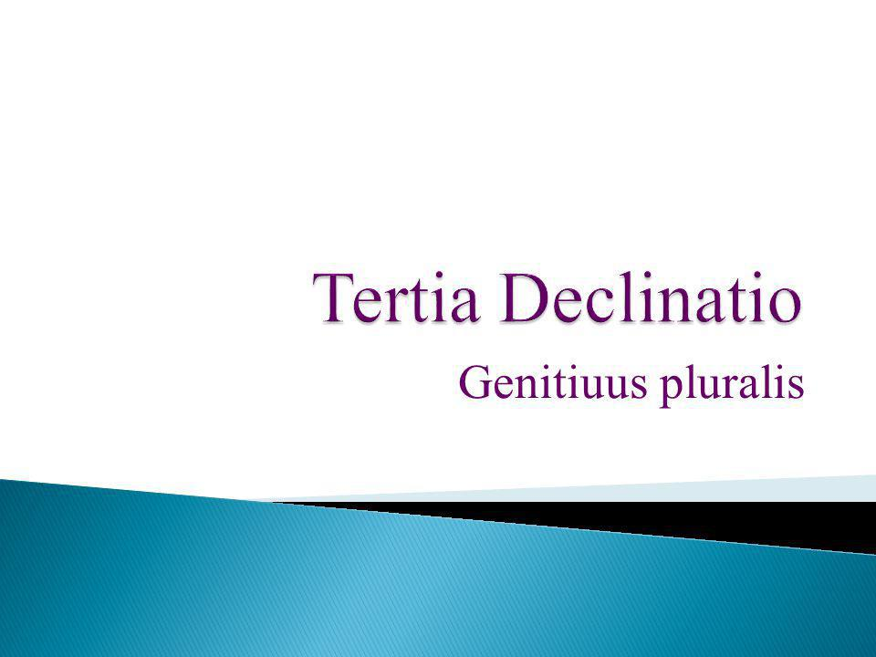 Tertia Declinatio Genitiuus pluralis