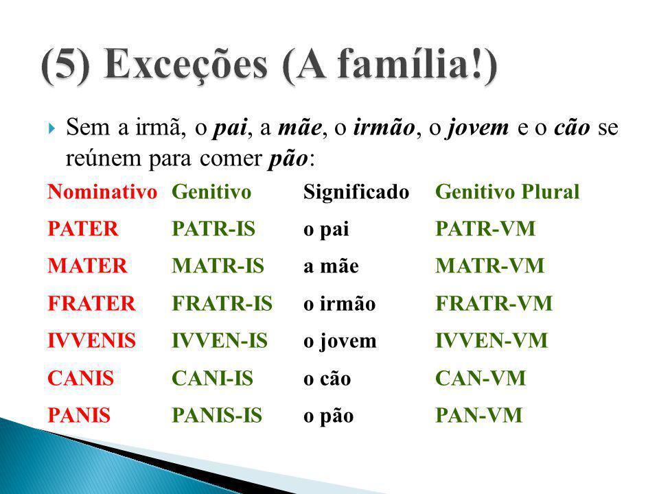 (5) Exceções (A família!)