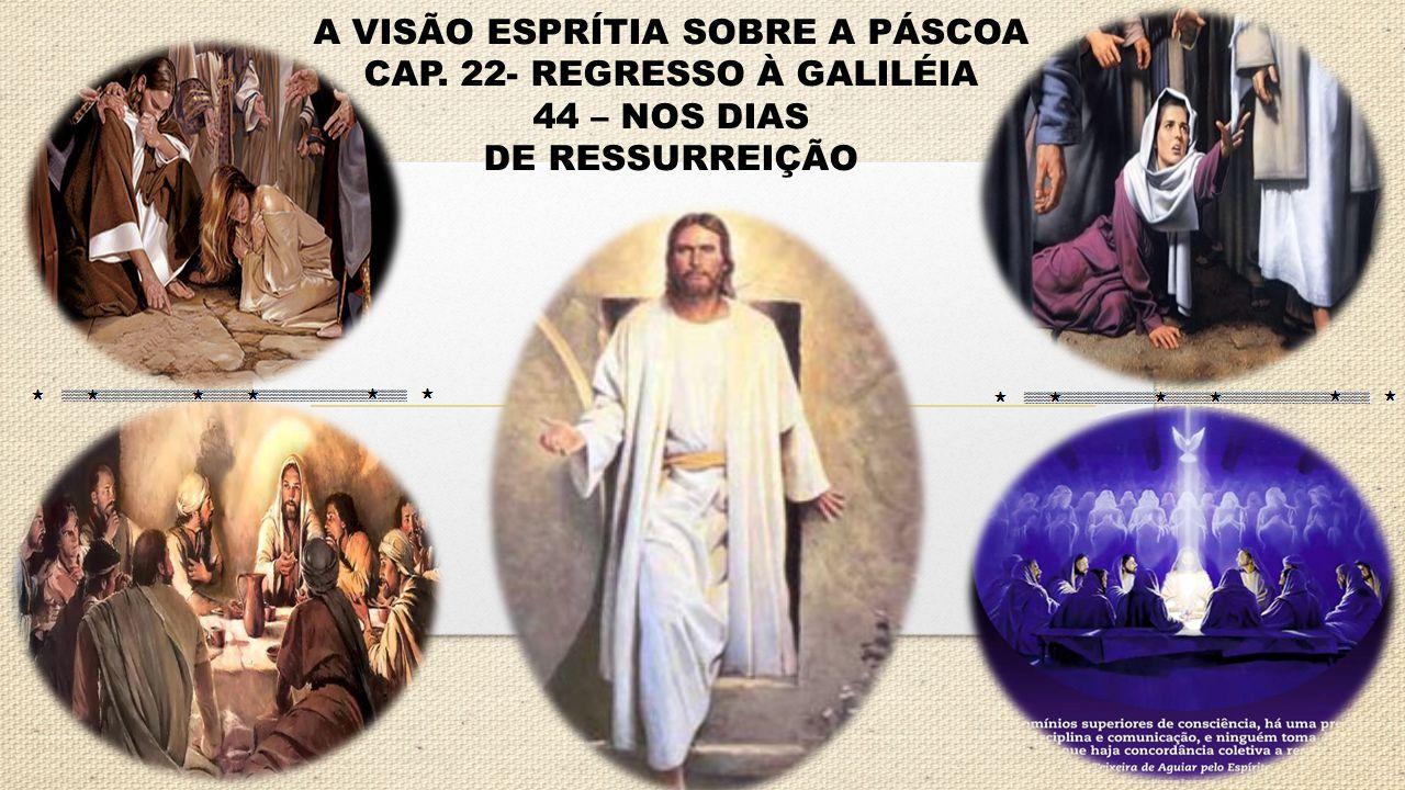 A VISÃO ESPRÍTIA SOBRE A PÁSCOA CAP. 22- REGRESSO À GALILÉIA