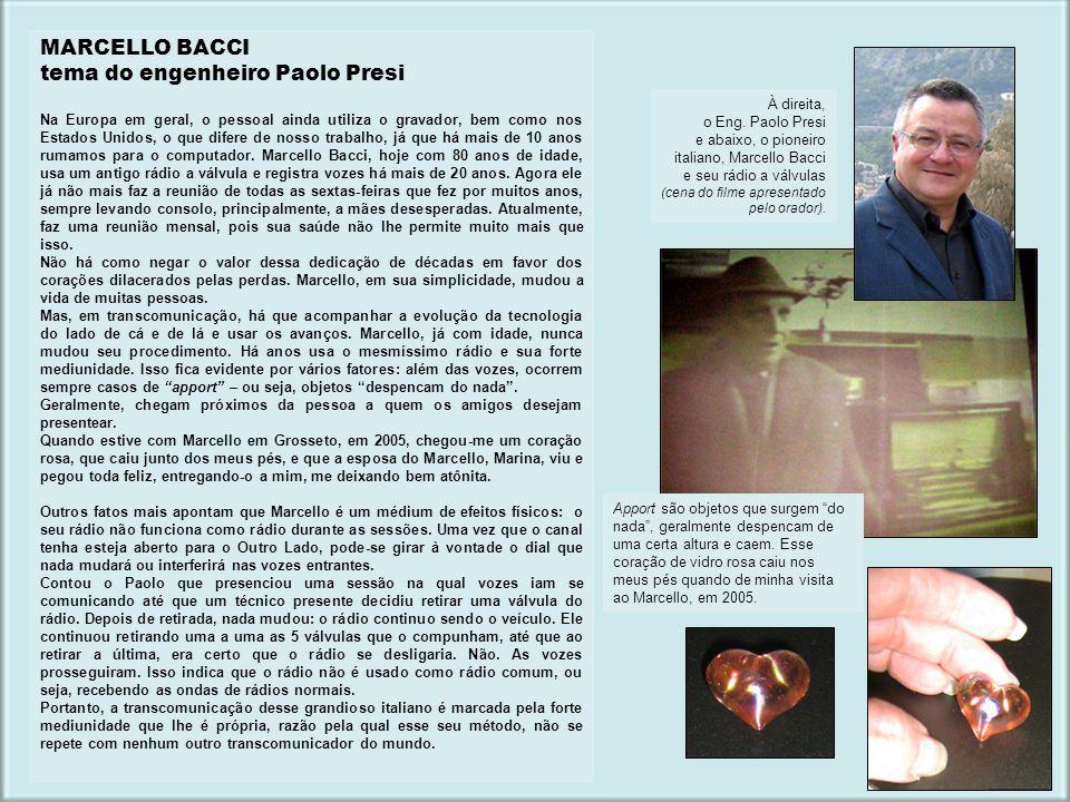 tema do engenheiro Paolo Presi
