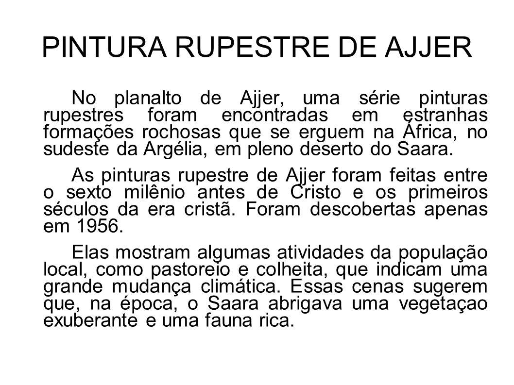 PINTURA RUPESTRE DE AJJER