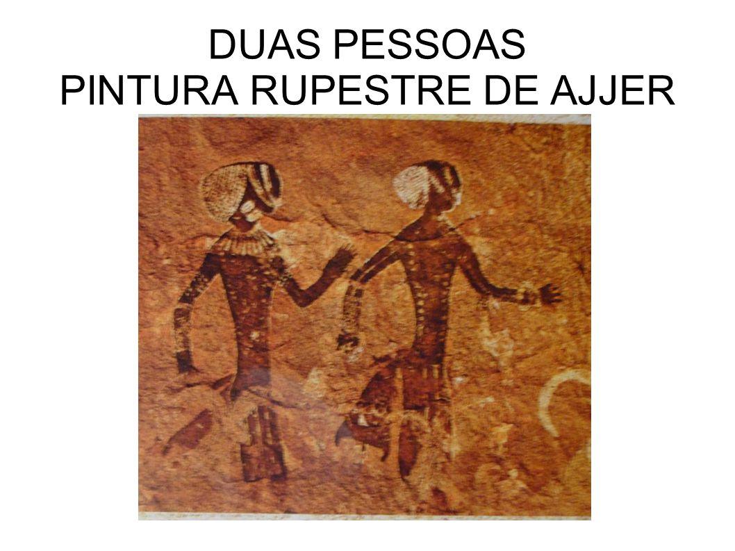 DUAS PESSOAS PINTURA RUPESTRE DE AJJER