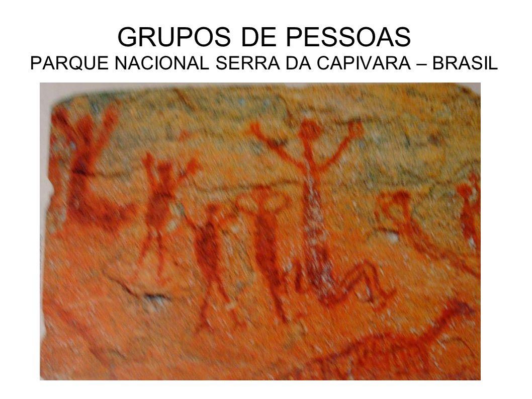 GRUPOS DE PESSOAS PARQUE NACIONAL SERRA DA CAPIVARA – BRASIL
