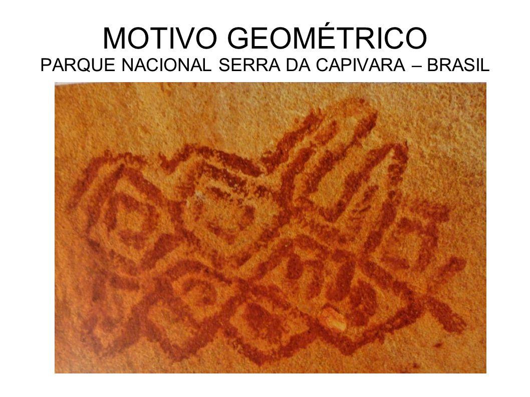 MOTIVO GEOMÉTRICO PARQUE NACIONAL SERRA DA CAPIVARA – BRASIL