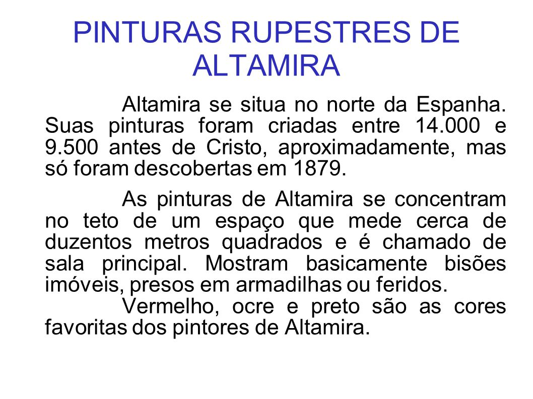 PINTURAS RUPESTRES DE ALTAMIRA