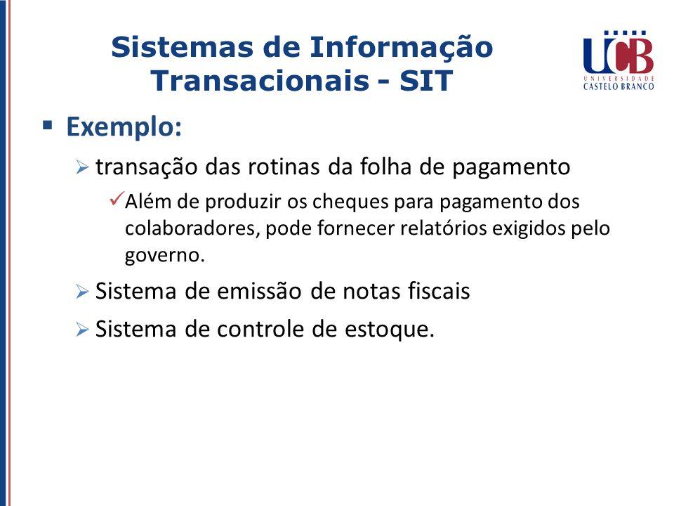 Sistemas de Informação Transacionais - SIT