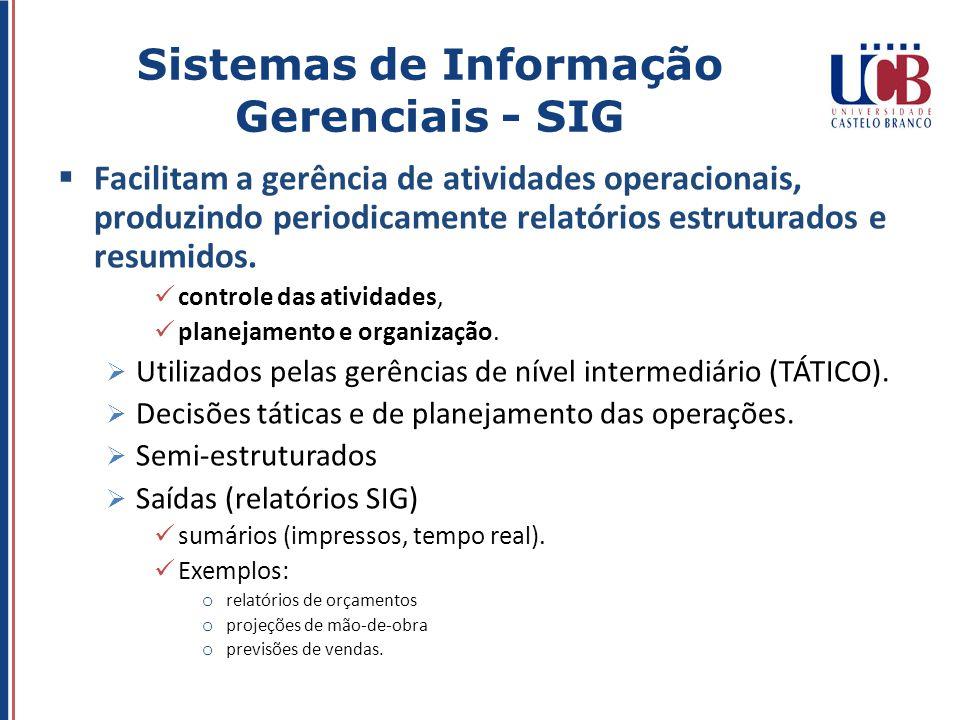 Sistemas de Informação Gerenciais - SIG