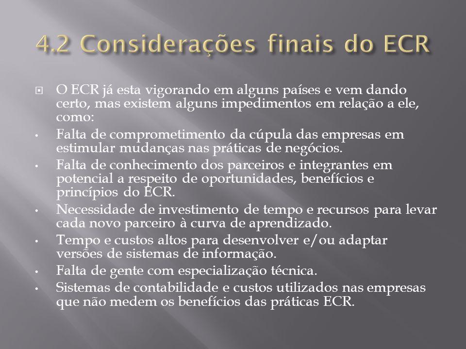 4.2 Considerações finais do ECR