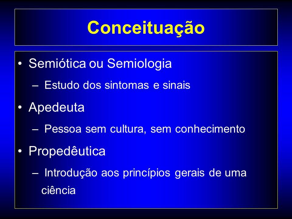 Conceituação Semiótica ou Semiologia Apedeuta Propedêutica