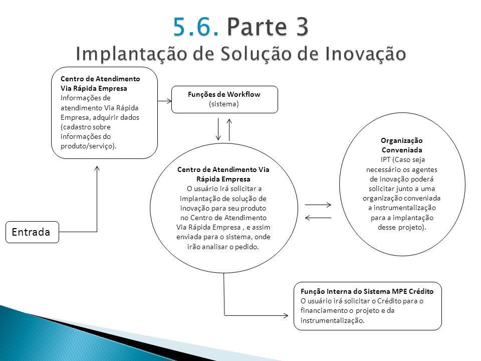5.6. Parte 3 Implantação de Solução de Inovação