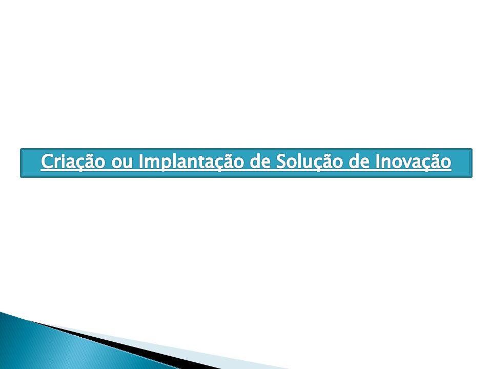 Criação ou Implantação de Solução de Inovação