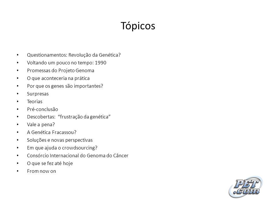 Tópicos Questionamentos: Revolução da Genética