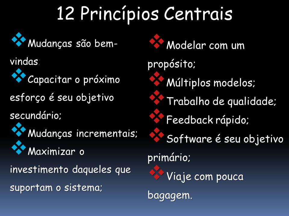 12 Princípios Centrais Modelar com um propósito; Múltiplos modelos;