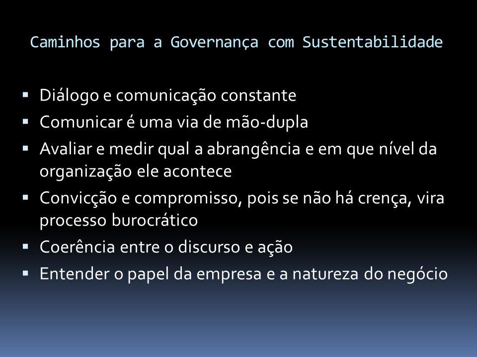 Caminhos para a Governança com Sustentabilidade