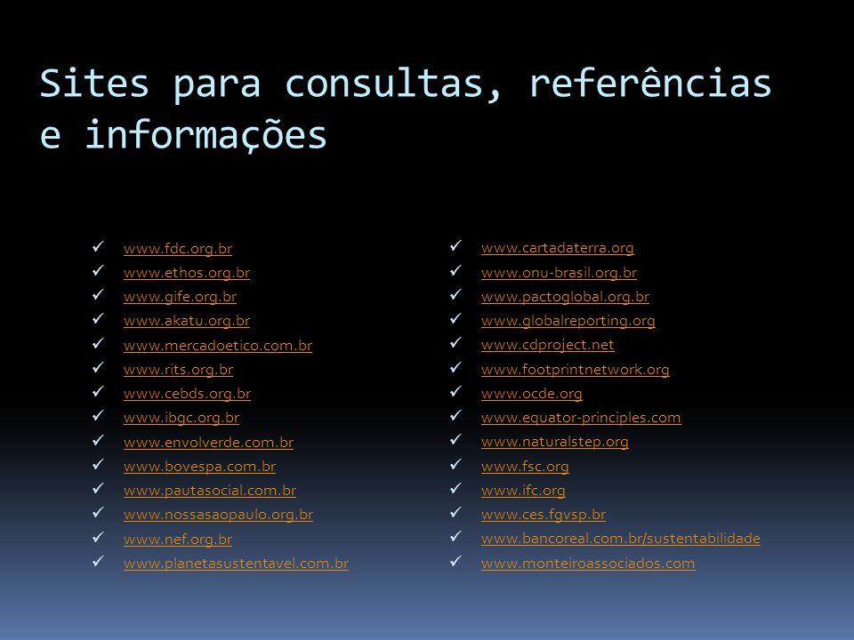 Sites para consultas, referências e informações