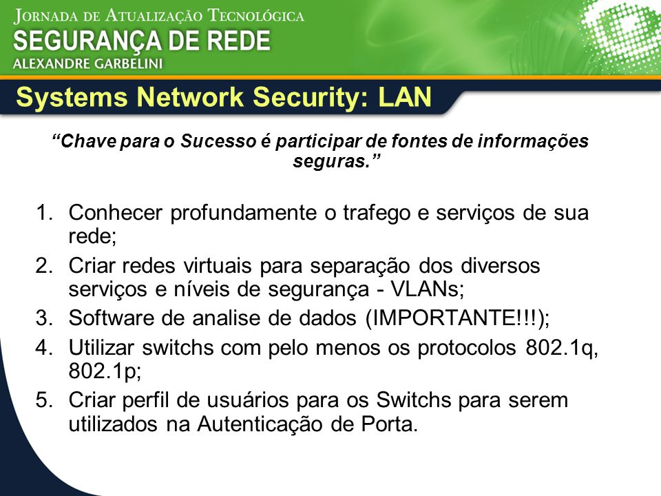 Systems Network Security: LAN