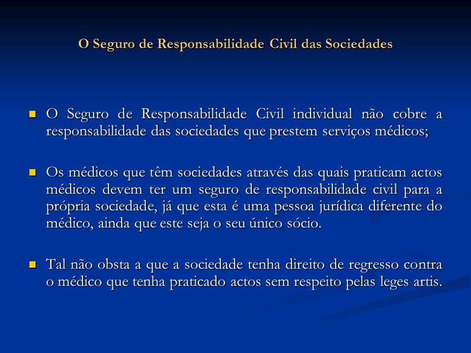 O Seguro de Responsabilidade Civil das Sociedades