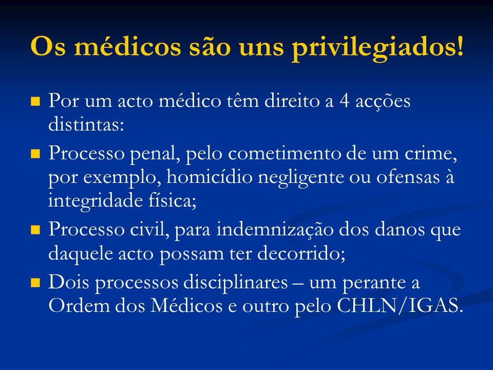 Os médicos são uns privilegiados!