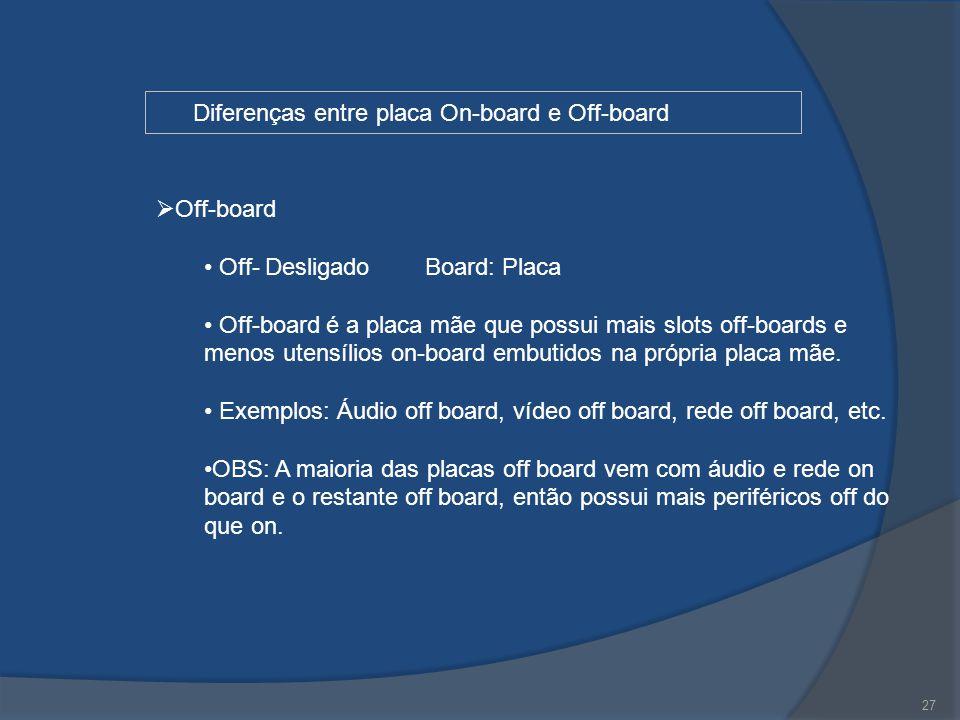 Diferenças entre placa On-board e Off-board