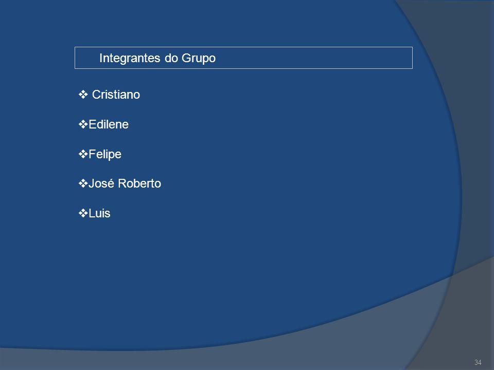 Integrantes do Grupo Cristiano Edilene Felipe José Roberto Luis 34