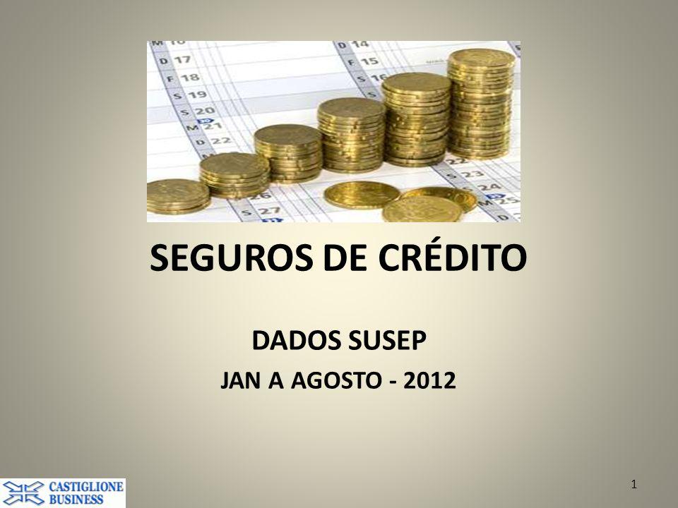 DADOS SUSEP JAN A AGOSTO - 2012