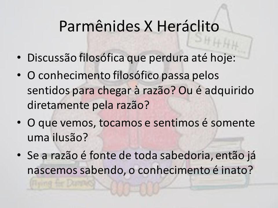 Parmênides X Heráclito