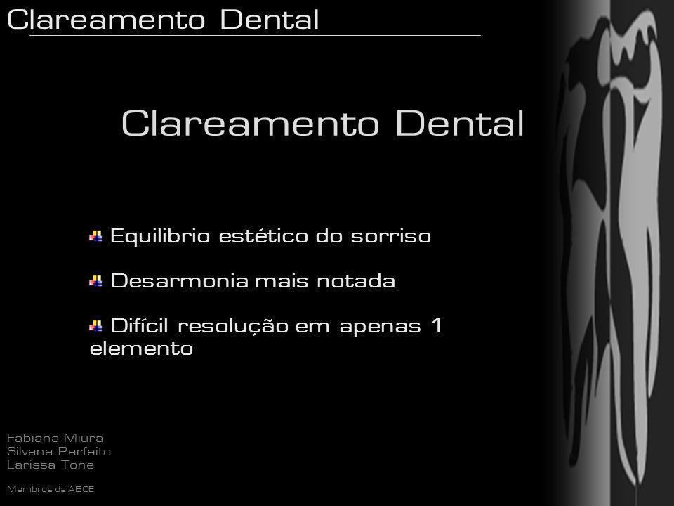 Clareamento Dental Equilibrio estético do sorriso