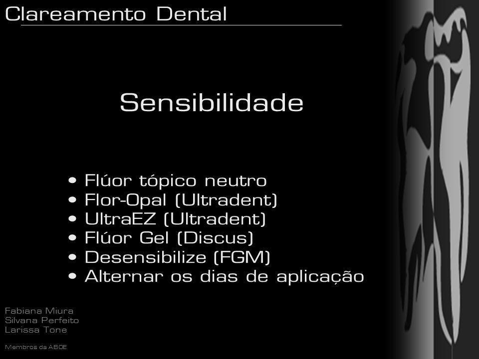 Sensibilidade Flúor tópico neutro Flor-Opal (Ultradent)