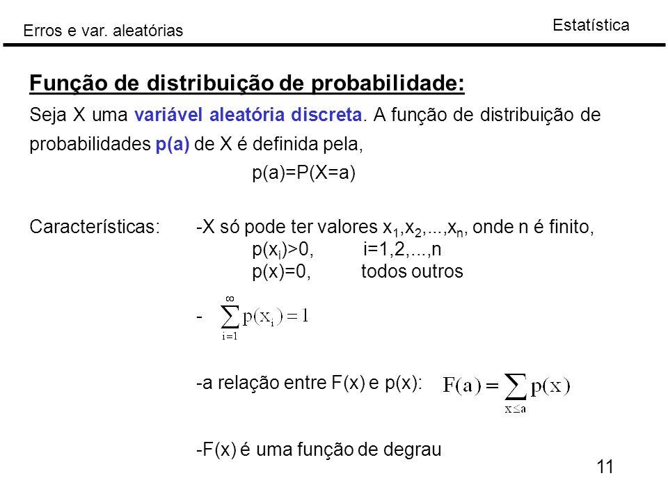 Função de distribuição de probabilidade: