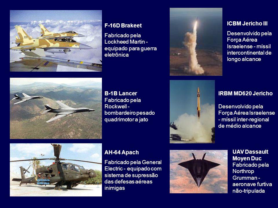 ICBM Jericho III Desenvolvido pela Força Aérea Israelense - míssil intercontinental de longo alcance.